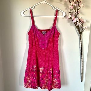 FREE PEOPLE / PINK MINI BUTTON DRESS